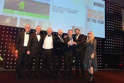 FlowForma Customer A14 IDT Win Prestigious Construction Award