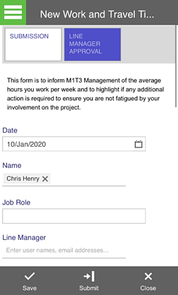New Work and Travel Timesheet Process