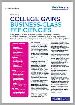 Abingdon & Witney College overcome paper by moving their processes online saving a significant amount of time and money.