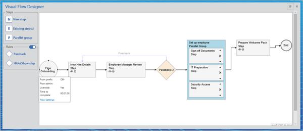 FlowDesigner screenshot for blog