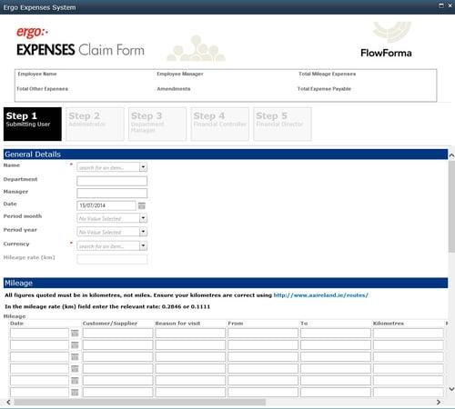 FlowForma_Expenses_Screenshot