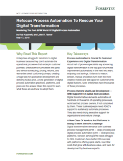 Forrester Re-Print: Refocus Process Automation - Screenshot image