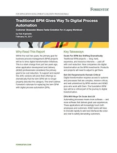 Forrester Report Digital Process Automation