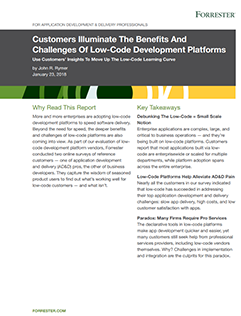 Forrester Report - Low code customer insights