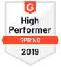G2 Crowd High Performer 2019