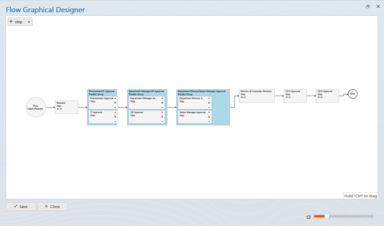 FlowForma BPM for Office 365 Visual Flow Designer