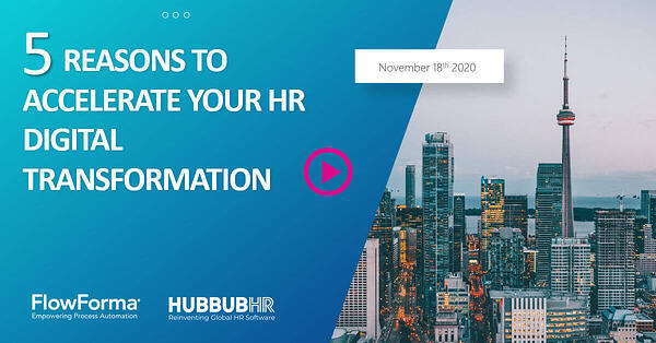 5 Reasons to Accelerate Your Digital HR Transformation - Webinar Recording