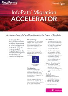 Infopath Migration - Brochure Screengrab