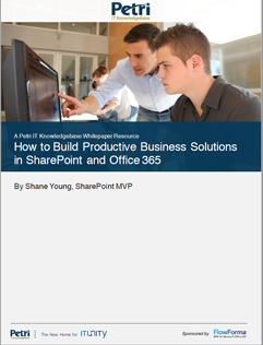 Whitepaper - How to Build Productive Business Solutions in SharePoint and Office 365