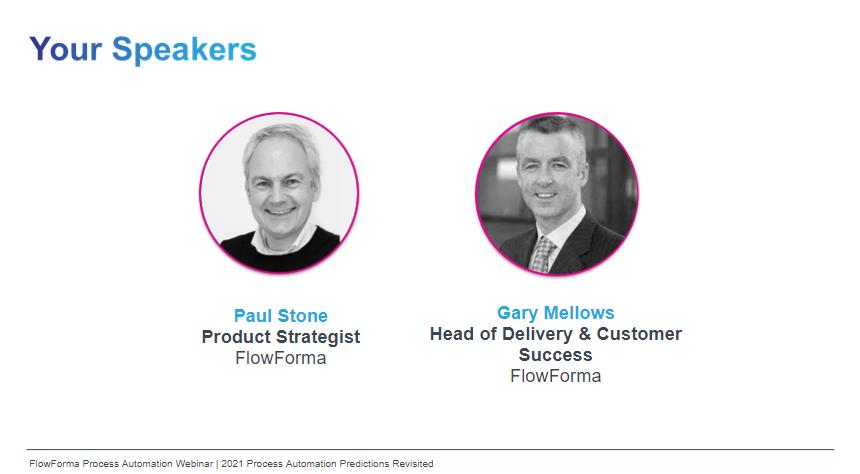Predictions webinar speakers Gary and Paul