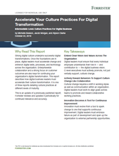 Accelerate Your Culture Practices For Digital Transformation
