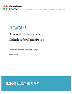 FlowForma Product Review by SharePoint Reviews