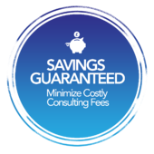 Savings Guaranteed - Gradient Background