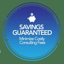 Savings Guaranteed - Gradient Background