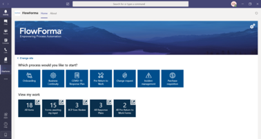 FlowForma Process Automation App - Workflow Software For Microsoft Teams - Homepage