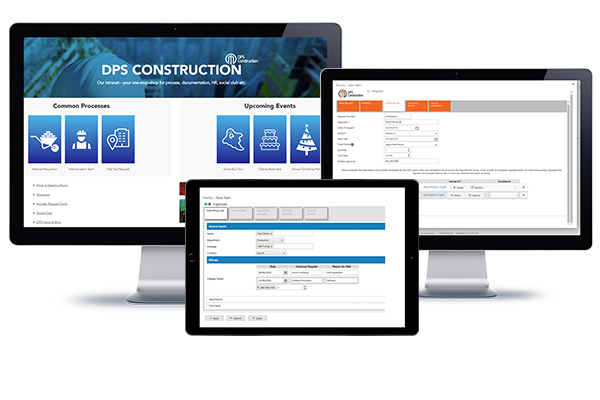 Three construction screenshots