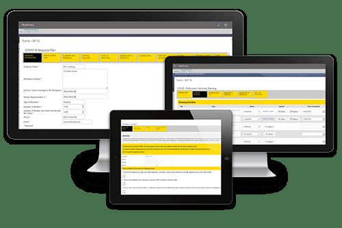 Three covid process accelerators screenshots