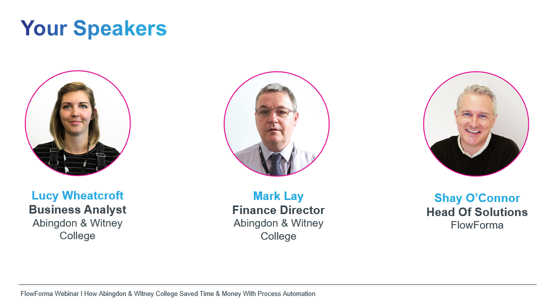 Your Speakers - Abingdon and Witney Webinar