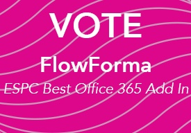 Vote for FlowForma as the Best Office 365 Add In!
